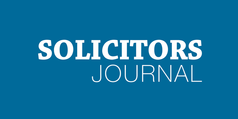 Solicitors Journal Awards Entry